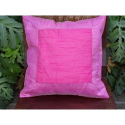 cushion cover 40x40 Candy Pink border brocade