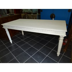 Solid mango table carved (183x90x76)